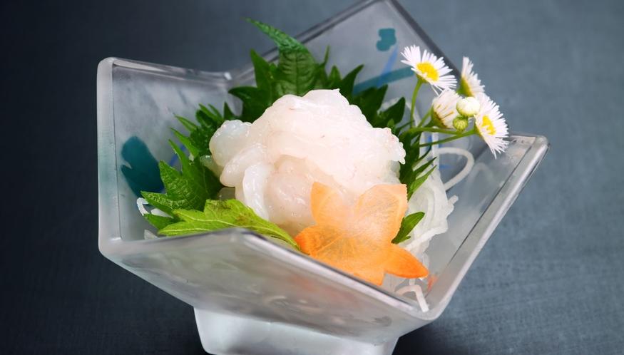 【白エビ】季節のオススメ料理の会席料理