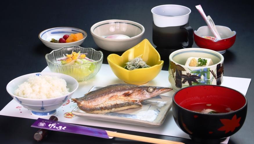 【朝食】料理全体の一例