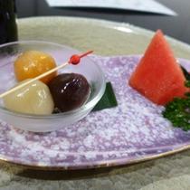 夏のお食事一例~食後の甘味~