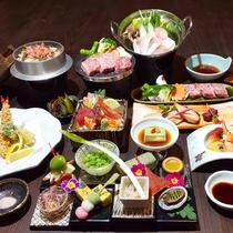 【近江牛陶板焼付き】特別室限定の豪華懐石料理をお愉しみください。