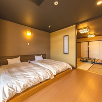 【和室12畳一例】広々とした和室でごゆっくりお寛ぎください。