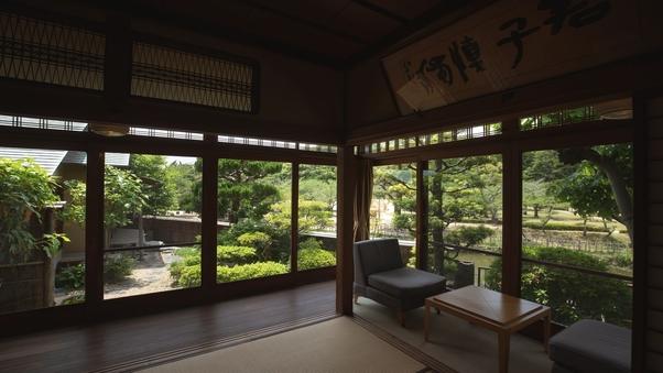 【〜鶯〜】8畳+控えの間3畳(専用客室温泉付)※檜風呂