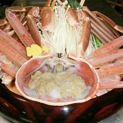 <蟹日帰り昼食D>アツアツ越前蟹[サイズ小]一人で1パイ+カニ料理3種類