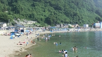 *こしの海水浴場/ファミリー、カップルに人気の夏の定番スポットは徒歩約10分。