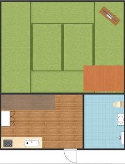 B 和室ルーム・キッチン付き
