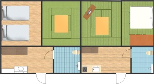 B 和洋室ファミリールーム(4LDK)キッチン付き