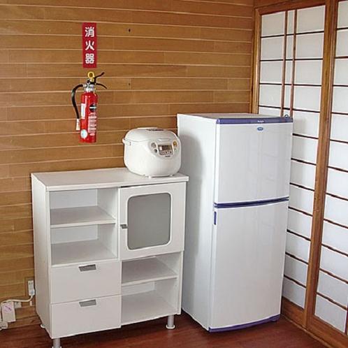 お部屋の設備 冷蔵庫・炊飯器・調理セット完備です☆
