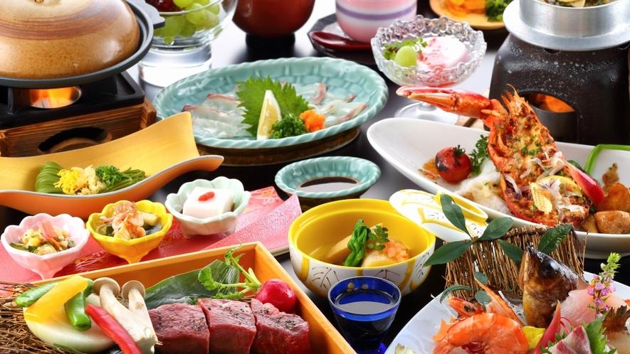 【旬魚の5種盛×豊後牛ステーキ】会席料理