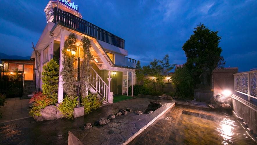 【屋上展望露天風呂】別府の天然温泉