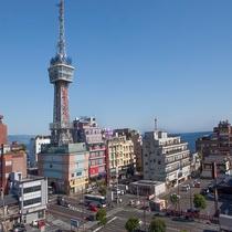 別府市の中心街