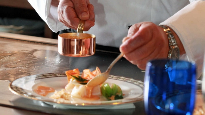 【50歳以上】12席限定の特別空間「近江牛鉄板焼」にて 近江牛ももと創作料理 ーシニアセゾンコースー
