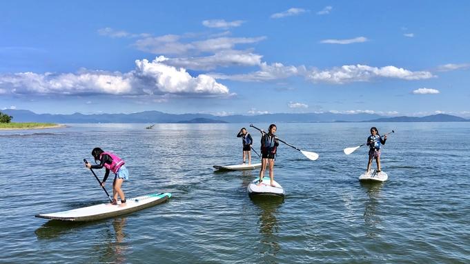 【カヤック・サップ体験】琵琶湖で楽しむマリンスポーツを優先予約でご案内!夕食はテラスdeバーベキュー