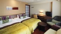 スタンダードツインルーム/シンプルで広々としたツインベッドタイプのお部屋です。