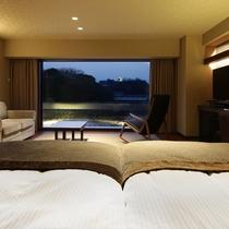 スーペリアツインルーム/スーペリアツインルーム/広々としたベッドでゆっくりとお休みいただけます。