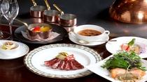 セゾンコース/滋賀のブランド近江牛をメインに新鮮な魚介類や野菜を用いて鉄板シェフが腕を振るいます。