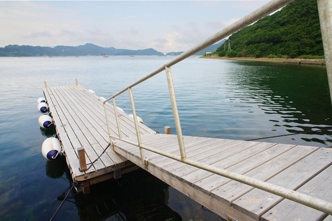 目の前は海!釣りも楽しめます