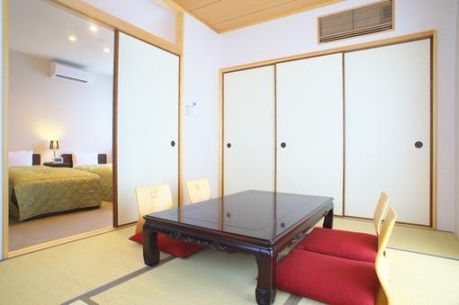 海沿い広々和洋室(ツイン+6畳和室)ファミリー向き202号室