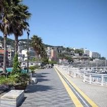 【観光】親水公園前の遊歩道