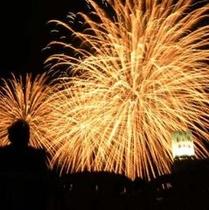 【熱海海上花火】屋上で見るナイアガラ
