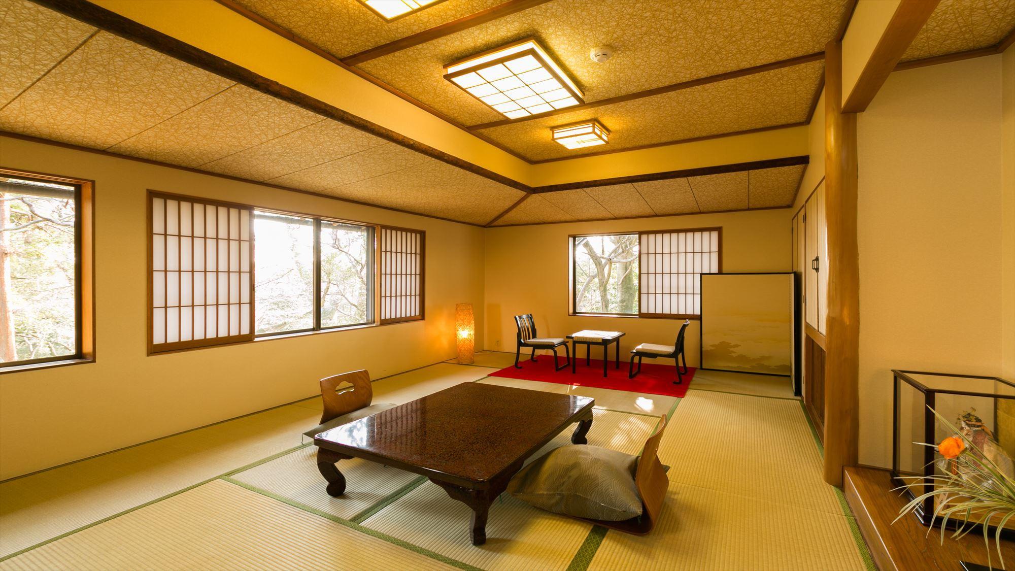 本館トイレ付和室【菊】夕陽が眺められるお部屋です。
