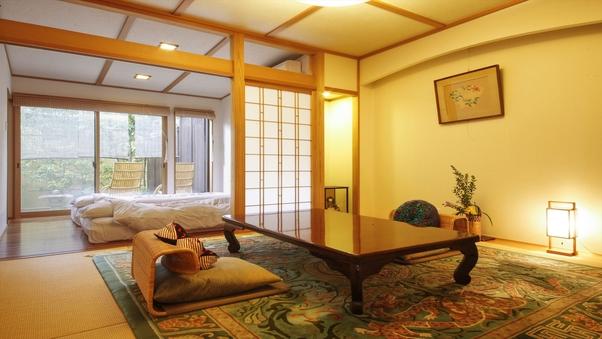 鹿鳴山荘、露天または半露天付き和室【朝夕部屋食】