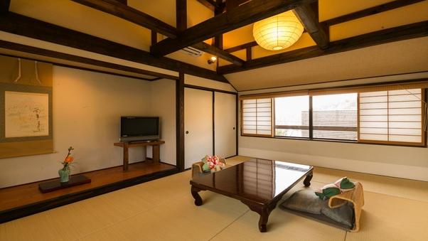 別館 鹿鳴山荘2階 菖蒲の間 半露天風呂付【朝夕部屋食】