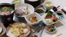 *【会席一例】ボリュームたっぷり♪食べきれないほどのお料理です!