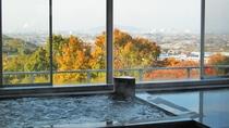 *【大浴場】高台から眺める瀬戸内の景色は昼間も楽しめます♪