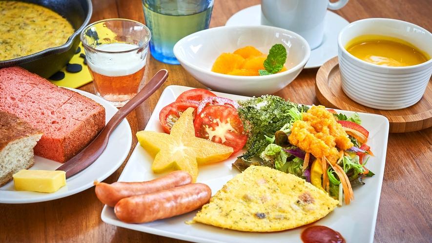 ・朝食一例
