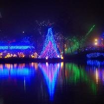 【榛名湖イルミネーションフェスタ】毎年クリスマスシーズンに行われます。