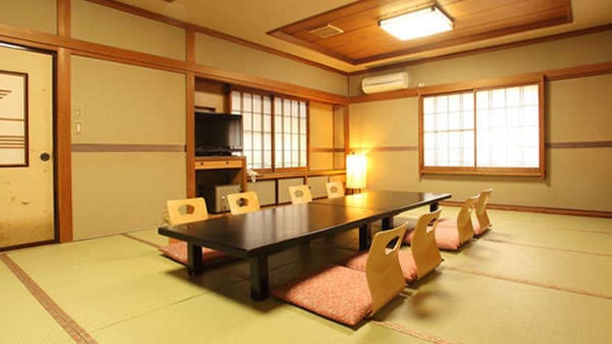 谷川【和室12畳〜16畳・トイレ付】7名様まで入る広々した客室