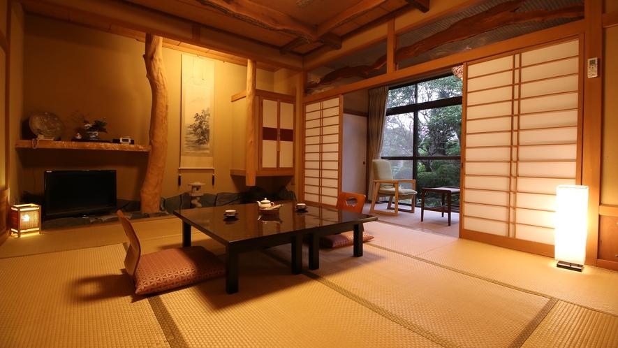 【旅館10畳-梅-】梅の木を眺めながらゆったりとした時間を過ごす