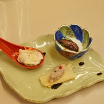 *【夕食】温泉水で調理することによって、まろやかな味へと変化してよりおいしくなります。(一例)