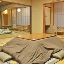*【新館和室24畳】ご家族や友人とご一緒にお泊りいただけます。大人7名様からご予約できます。(一例)