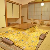 *【新館和室】冬季はこたつになります。(一例)