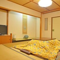 *【新館和室】綺麗な畳と温かみのあることつがほっこりする空間となっております。3名様~(一例)