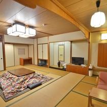 *【和室】仲間や友人とのご旅行でもご一緒にお泊りいただけます。大人5名様~(一例)