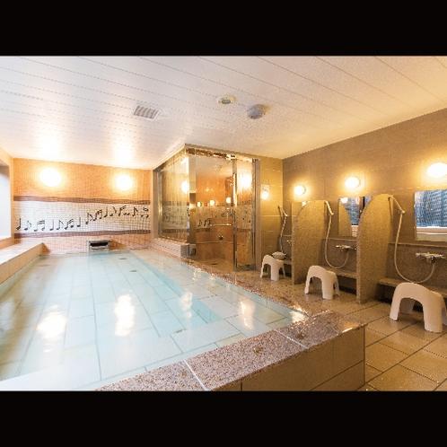 【大浴場】バイブラバス付浴場は心身ともにリフレッシュできる空間/日替わり