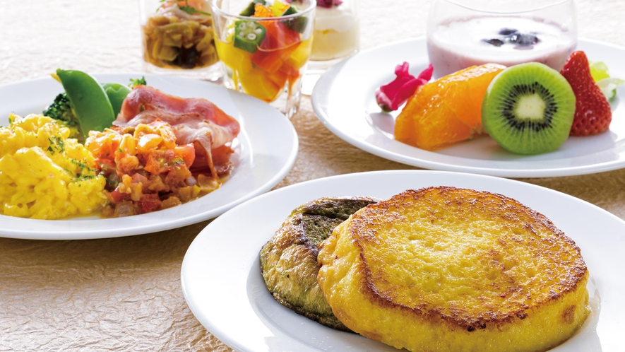 【洋朝食】見た目にもワクワクする演出を施した色鮮やかな洋定食メニュー
