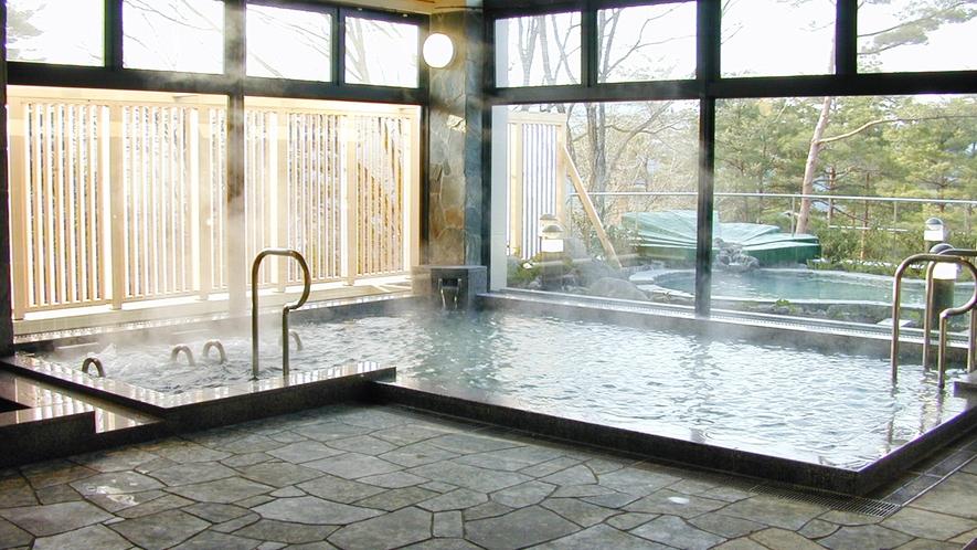 *湯量豊富なアルカリ性単純泉が堪能できるおふろゾーン(入浴券2枚付き)