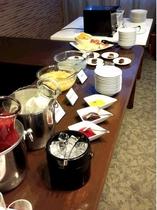 朝食バイキング デザートコーナー