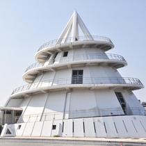 【海のピラミッド】三角港のシンボルであるフェリーターミナ