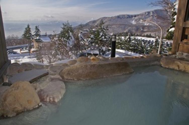 冬・男性露天の湯