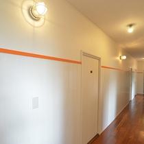 お部屋前の廊下も新しくなりました