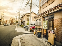 懐古的未来の前の国道(竹田街道)。