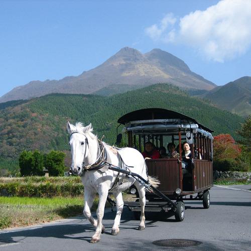 【周辺観光地】由布院の中を馬車でゆったり観光♪観光辻馬車