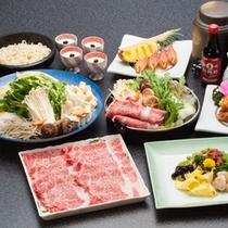 【すき焼き一例】神戸牛を定番のすき焼きで♪甘辛い割下がお肉の旨味をひきたてます!