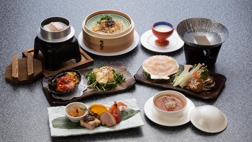 *【海鮮グルメコース(一例)】お肉より海鮮派の方におすすめのコースです。