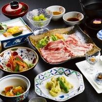 【源泉しゃぶしゃぶ膳】ブランド豚「米沢豚一番育ち」をメインにした和食膳(春・夏)