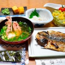 *朝食一例/新鮮な焼き魚が美味♪ほっと落ち着く和朝食をご用意いたします。